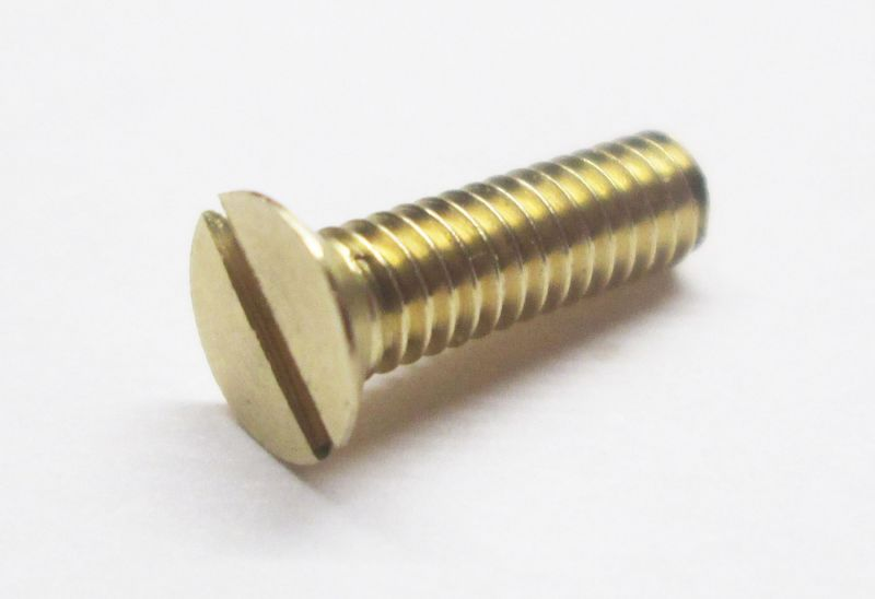 Brass Countersunk Screws (Slotted)