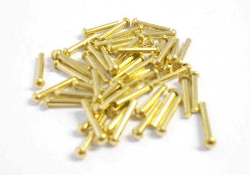 Brass Roundhead Rivets