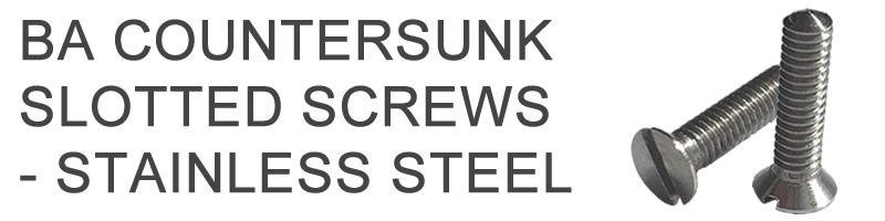 BA Stainless Steel Countersunk Screws
