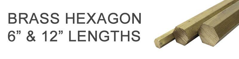 Brass Hexagons - 6