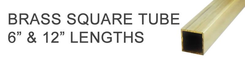 Brass Square Tube - 6
