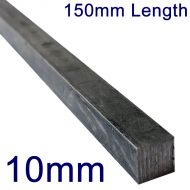 """10mm Stainless Steel Square Bar - 6"""" Length"""