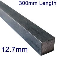 """12.7mm (1/2"""") Stainless Steel Square Bar - 12"""" Length"""
