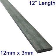 "12mm x 3mm Stainless Steel Flat Bar - 12"" Length"