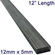 "12mm x 5mm Stainless Steel Flat Bar - 12"" Length"