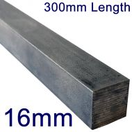 """16mm Stainless Steel Square Bar - 12"""" Length"""