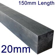 """20mm Stainless Steel Square Bar - 6"""" Length"""