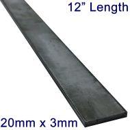 "20mm x 3mm Stainless Steel Flat Bar - 12"" Length"