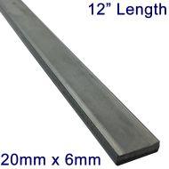 "20mm x 6mm Stainless Steel Flat Bar - 12"" Length"