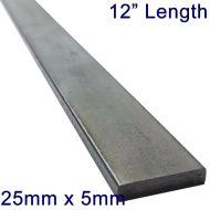 "25mm x 5mm Stainless Steel Flat Bar - 12"" Length"