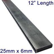"25mm x 6mm Stainless Steel Flat Bar - 12"" Length"