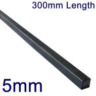"""5mm Stainless Steel Square Bar - 12"""" Length"""
