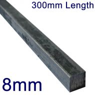 """8mm Stainless Steel Square Bar - 12"""" Length"""