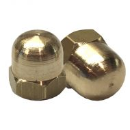 """3/16"""" BSF Brass Dome Nut (pack 10)"""