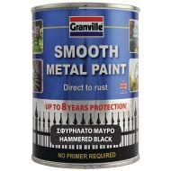 Granville Hammered Finish Metal Paint - Black - 750ml Tim