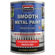 Granville Smooth Finish Metal Paint - Red - 750ml Tim