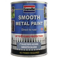 Granville Smooth Finish Metal Paint - Silver - 750ml Tim