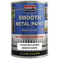 Granville Smooth Finish Metal Paint - White - 750ml Tin