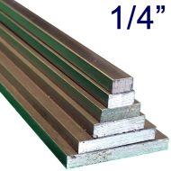 """1/4"""" Steel Flat Assortment Pack - 24"""" Lengths"""