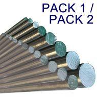 "Steel Round Assortment Pack - 24"" Lengths"