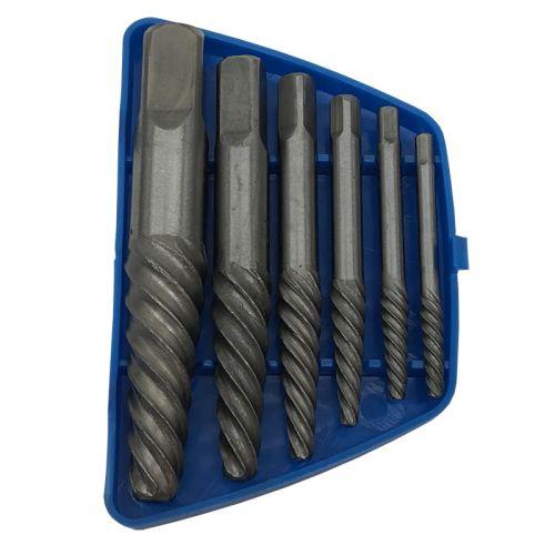 6pc Spiral Flute Screw Extractor Set