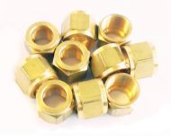 """1/4"""" x 32 Brass Union Nut for 1/8"""" or 5/32"""" Pipe"""