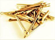 """3/32 x 1"""" Brass Split Pins Qty 20"""